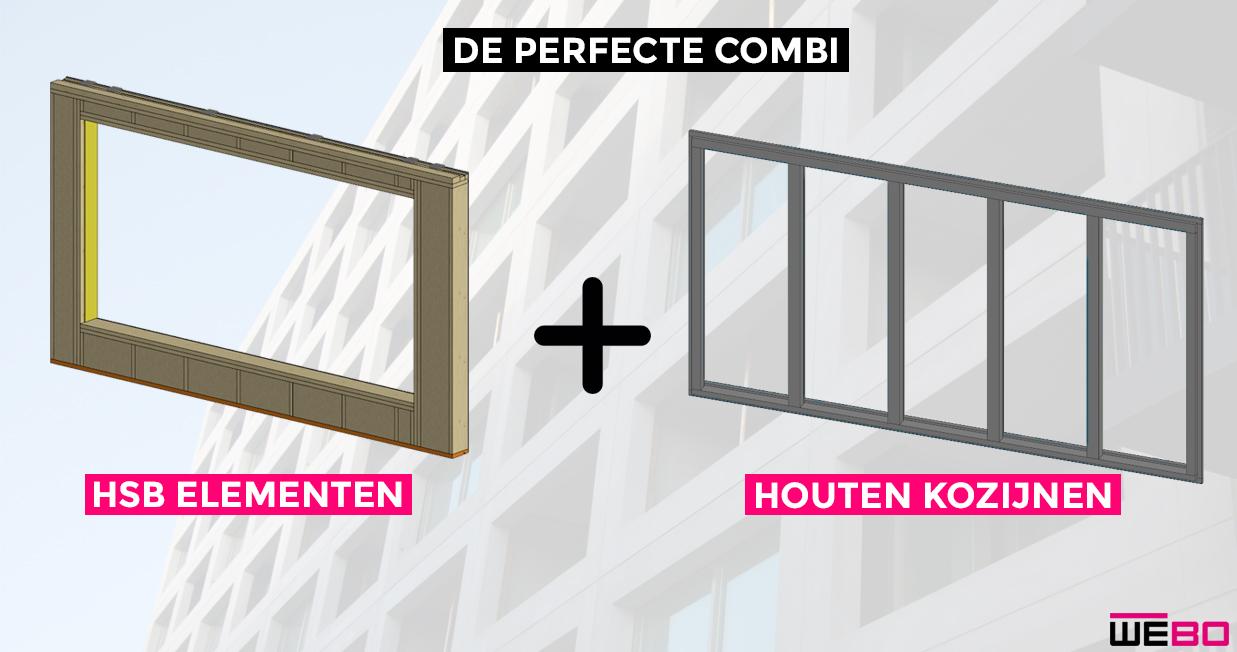 De perfecte combi: Houten kozijnen + HSB-elementen