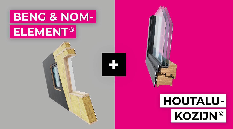 Jouw BENG- of NOM-Element®  in combinatie met het HoutAlu-Kozijn®
