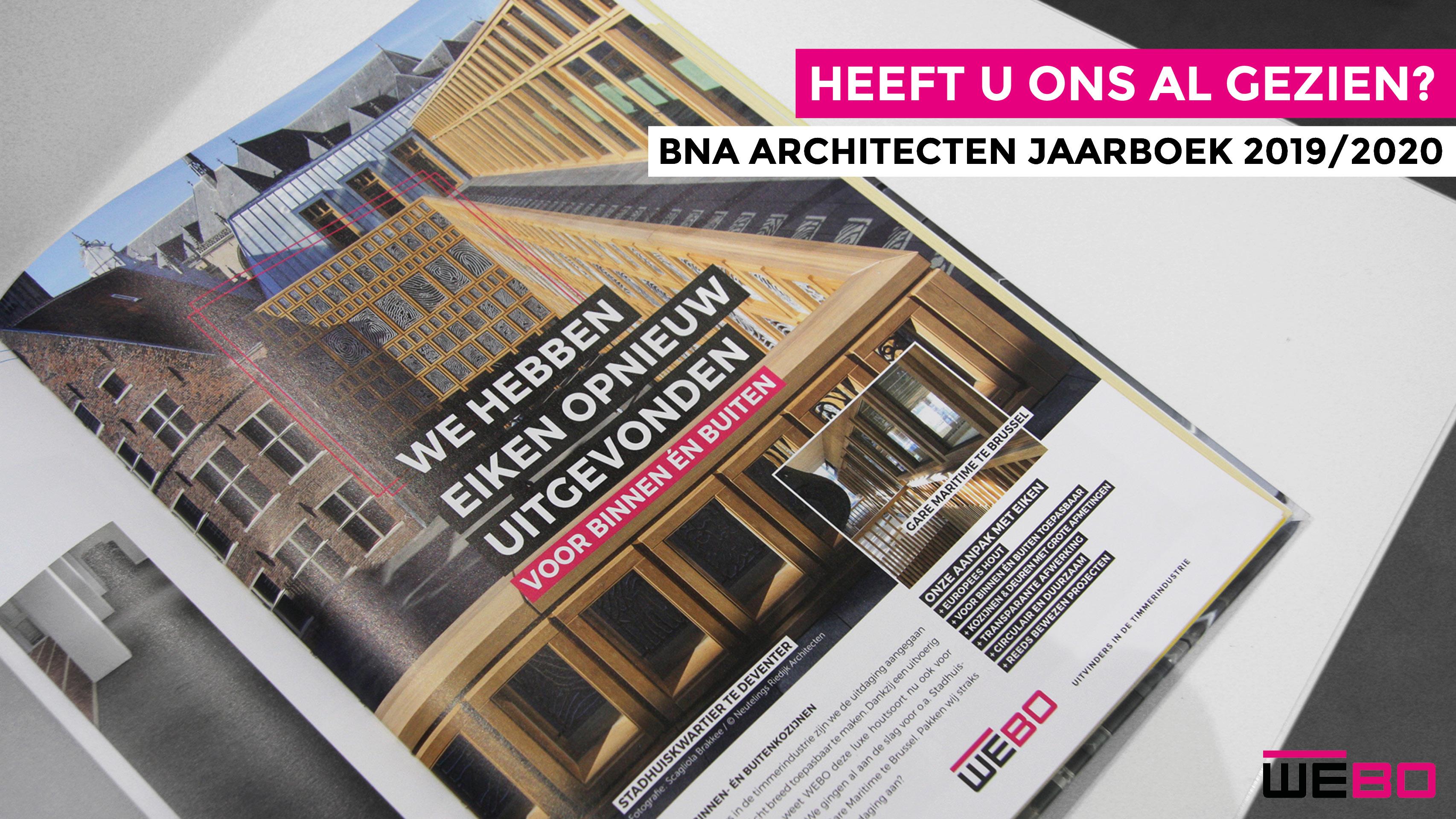 NIEUWSBRIEF: HEEFT U HET AL GEZIEN? | BNA ARCHITECTEN JAARBOEK 2019/2020