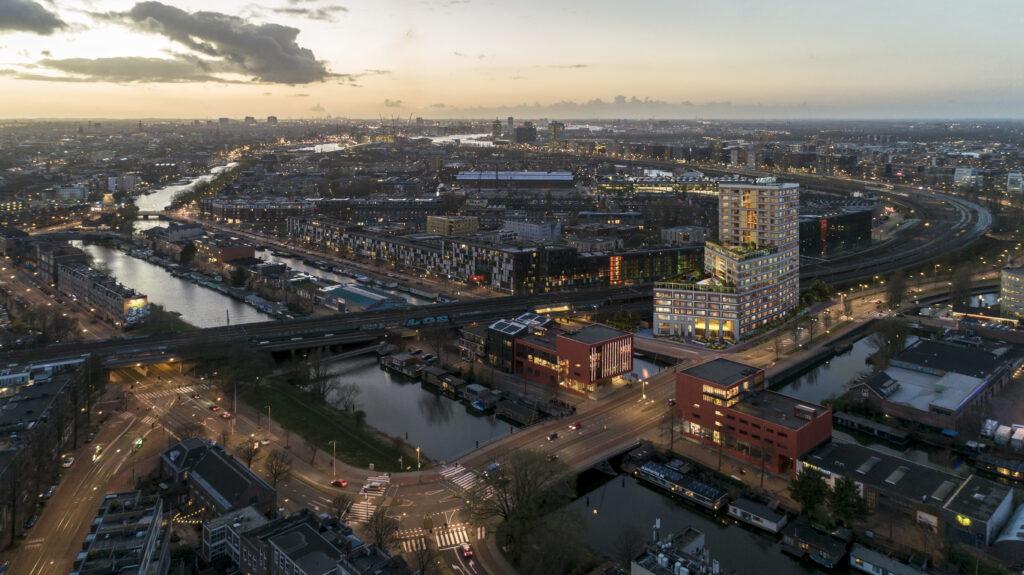 Fibonacci Amsterdam bovenaanzicht